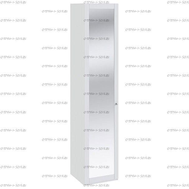 Шкаф для белья Ривьера СМ 241.21.001 с зеркальной дверью Белый