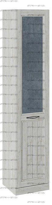 Шкаф для белья с 1 глухой дверью левый Кантри СМ-308.07.210L (з) Замша синяя/Винтерберг