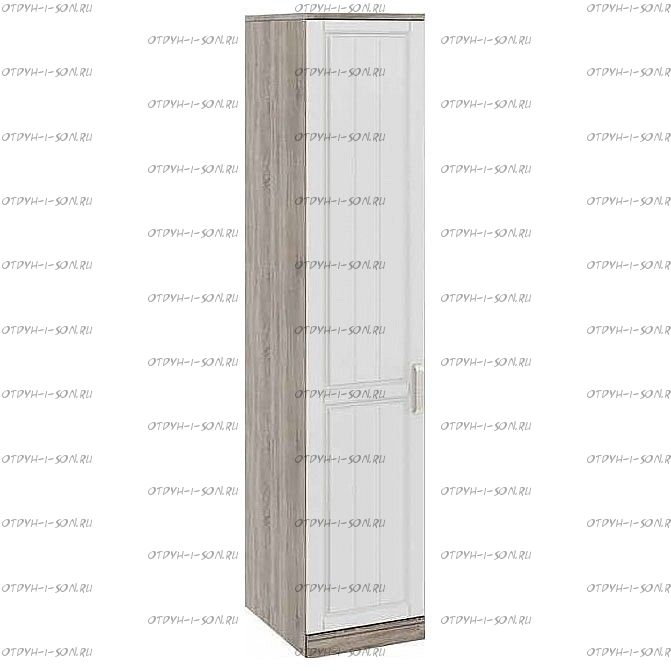 Шкаф для белья с 1 дверью Прованс СМ-223.07.001L (580) Дуб Сонома трюфель/Крем