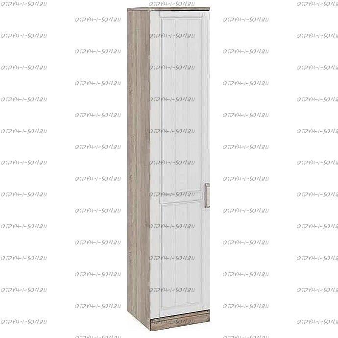 Шкаф для белья с 1 дверью Прованс СМ-223.07.021L (440) Дуб Сонома трюфель/Крем