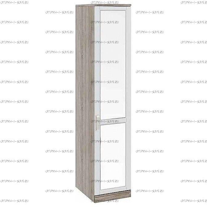 Шкаф для белья с 1 зеркальной дверью Прованс СМ-223.07.002R (580) Дуб Сонома трюфель/Крем