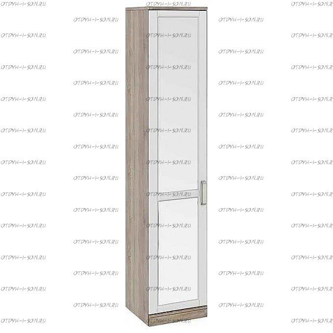 Шкаф для белья с 1 зеркальной дверью Прованс СМ-223.07.022L (440) Дуб Сонома трюфель/Крем