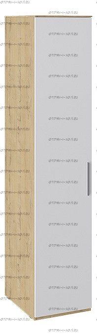 Шкаф для белья с глухой дверью Квадро СМ-281.07.001 Бунратти/ Белый глянец
