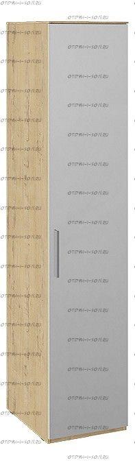 Шкаф для белья с зеркальной дверью правый Квадро СМ-281.07.002 R Бунратти/ Белый глянец