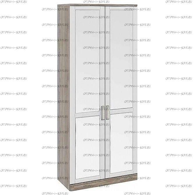 Шкаф для одежды Прованс СМ-223.07.024 с 2-мя зеркальными дверями (440) Дуб Сонома трюфель/Крем