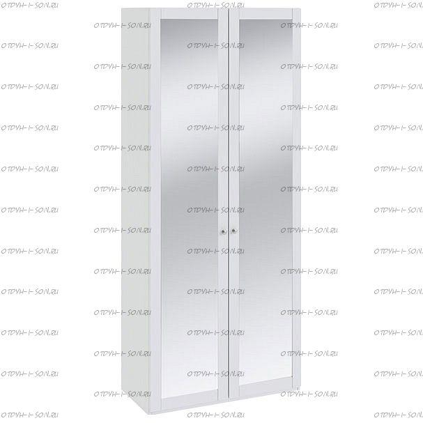 Шкаф для одежды Ривьера СМ 241.22.102 с 2-мя зеркальными дверями Белый