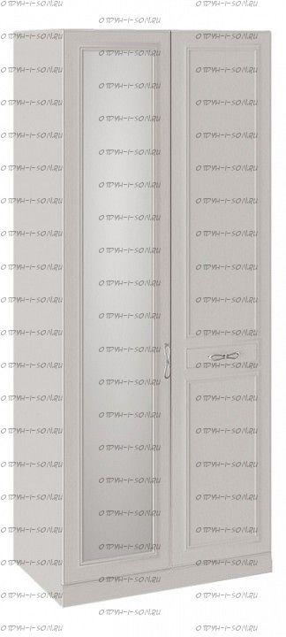 Шкаф для одежды Сабрина СМ-307.07.021-01R с 1 глухой и 1 зеркальной дверью правый с опорой Кашемир
