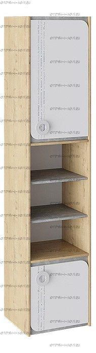 Шкаф комбинированный Мегаполис ТД-315.07.20 Бунратти/ Белый с рисунком