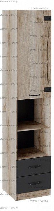 Шкаф комбинированный Окланд ТД-324.07.20 Фон Черный/Дуб Делано