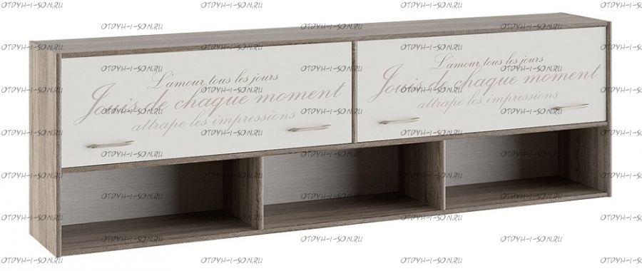 Шкаф настенный Брауни (Фон бежевый с рисунком/Дуб Сонома трюфель) ТД-313.12.21