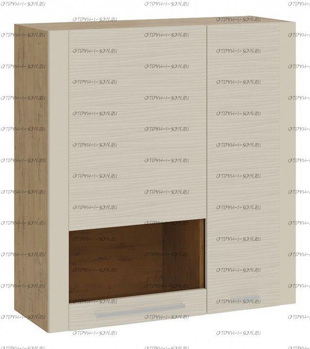 Шкаф настенный с 2 дверями Николь ТД-296.03.37 Бунратти/Фон Бежевый