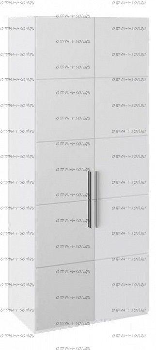 Шкаф с 1-й глухой и 1-й зеркальной левой дверями Наоми СМ-208.07.04 L Белый глянец