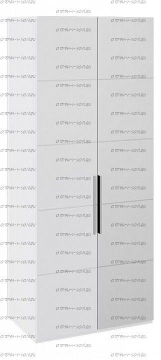 Шкаф с 1-й глухой и 1-й зеркальной правой дверями Наоми СМ-208.07.04 R Белый глянец