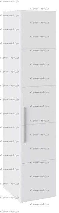 Шкаф с 1-й дверью Наоми СМ-208.07.01 Белый глянец
