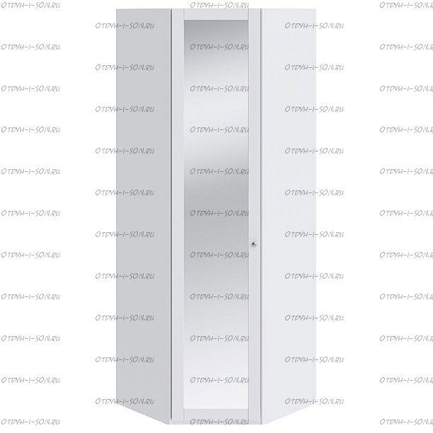 Шкаф угловой Ривьера СМ 241.23.003 с 1-й дверью с зеркалом Белый