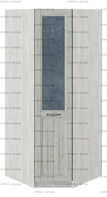 Шкаф угловой с 1 глухой дверью правый Кантри СМ-308.07.030R (з) Замша синяя/Винтерберг