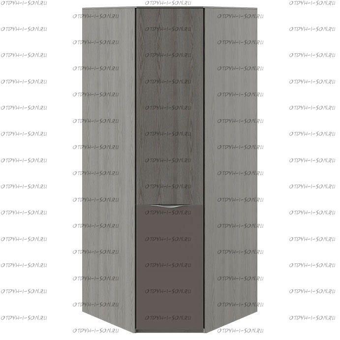 Шкаф угловой с 1 дверью с ЛКП Либерти СМ-297.07.033 Хадсон/Фон Серый