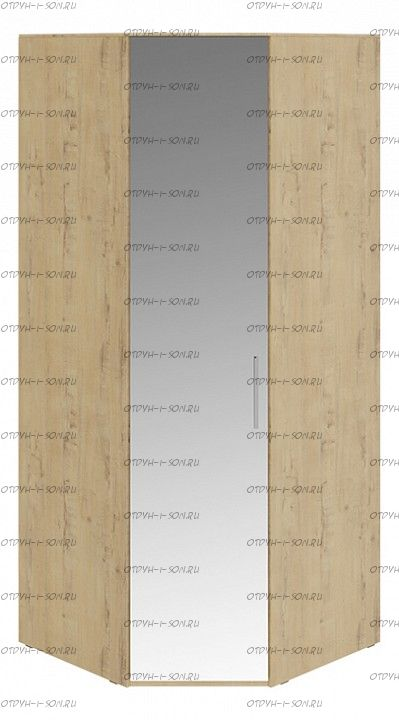 Шкаф угловой с 1 зеркальной дверью левый Николь СМ-295.07.007 L