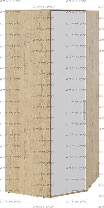 Шкаф угловой с глухой дверью Квадро СМ-281.07.006 Бунратти/ Белый глянец