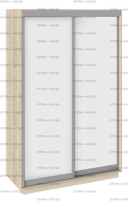 Шкаф-купе 2-х дверный Румер СШК 1.140.70-11.11 (1400x600x2200) Дуб Сонома, Белый снег/ Белый снег