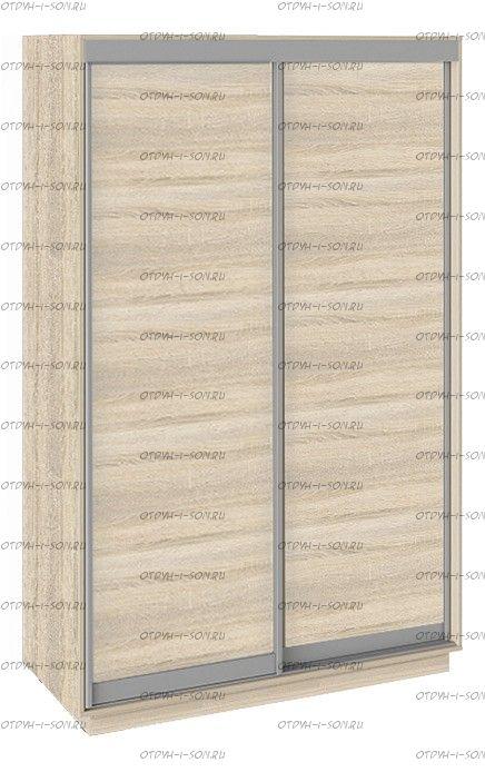 Шкаф-купе 2-х дверный Румер СШК 1.140.70-11.11 (1400x600x2200) Дуб Сонома, Дуб сонома/Дуб сонома