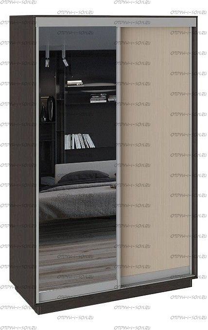 Шкаф-купе 2-х дверный Румер СШК 1.140.70-11.13 Венге, Дуб молочный/Зеркало