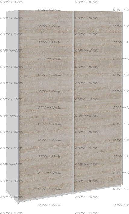 Шкаф-купе 2-х дверный Траст СШК 2.140.70-11.11 (1400x580x2300) Белый снег,Дуб Сонома/Дуб Сонома
