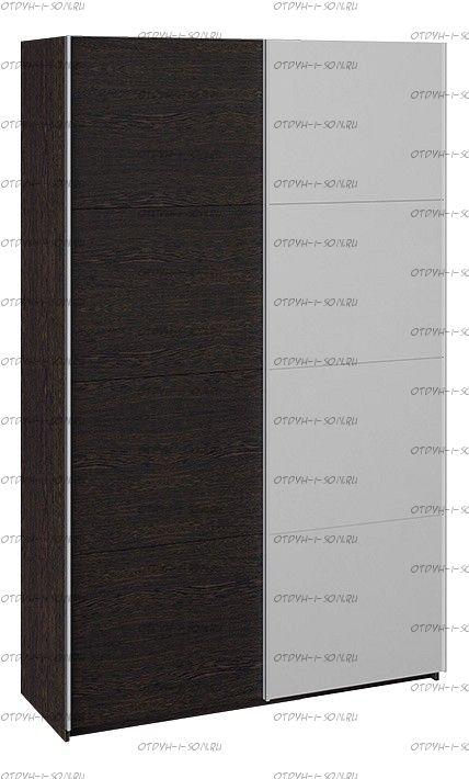 Шкаф-купе 2-х дверный Траст СШК 2.140.70-11.13 (1400x580x2300) Венге, Венге/зеркало