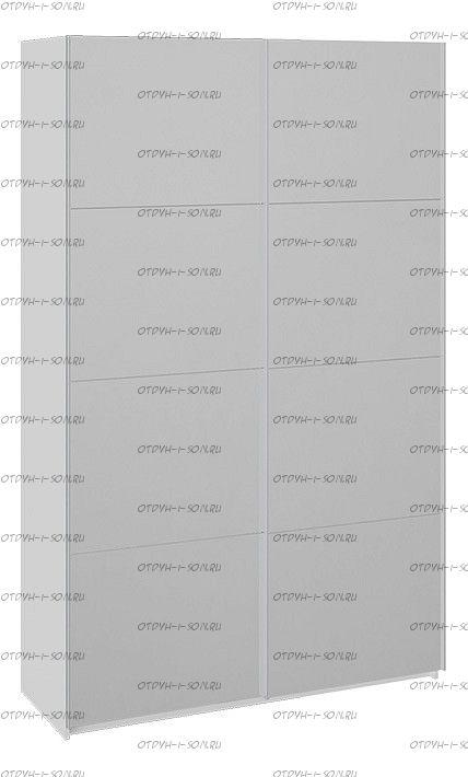 Шкаф-купе 2-х дверный Траст СШК 2.140.70-13.13 (1400x580x2300) Белый снег,Зеркало/Зеркало