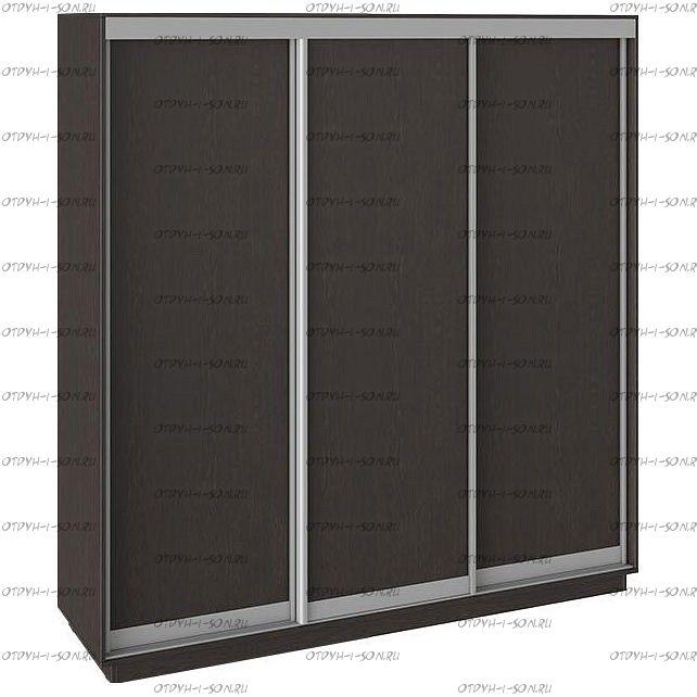 Шкаф-купе 3-х дверный Румер СШК 1.210.70-11.11.11 (2100x600x2200) Венге, Венге/венге/венге