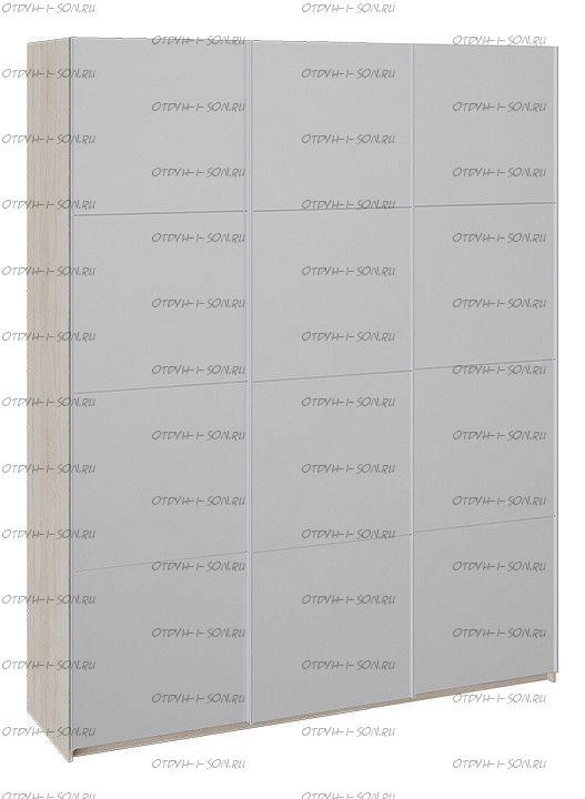 Шкаф-купе 3-х дверный Траст СШК 2.180.60-13.13.13 (1800x580x2300) Дуб Сонома, Зеркало/Зеркало/Зеркало