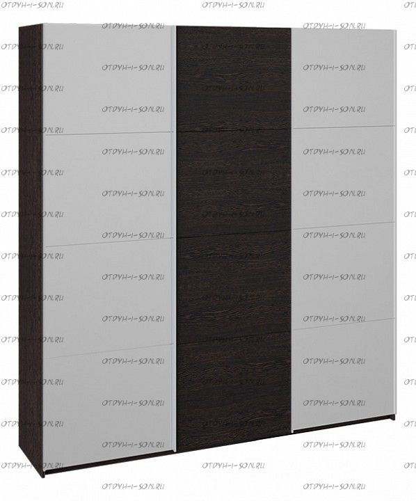 Шкаф-купе 3-х дверный Траст СШК 2.210.70-13.11.13 (2100x580x2300) Венге, Зеркало/венге/зеркало