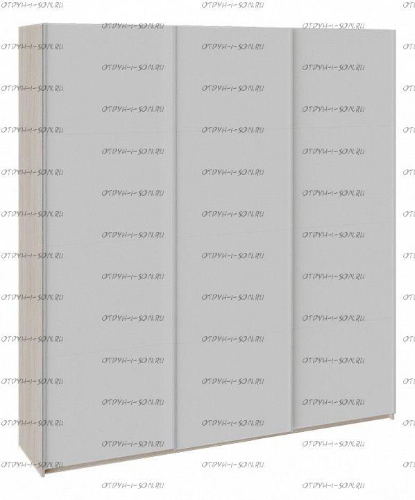 Шкаф-купе 3-х дверный Траст СШК 2.210.70-15.15.15 (2100x580x2300) Дуб Сонома, Стекло Белый Глянец/Стекло Белый Глянец/Стекло Белый глянец