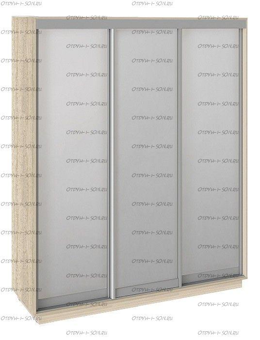 Шкаф-купе Румер СШК 1.180.60-13.13.13 3-х дверный (1800x600x2200) Дуб сонома, Зеркало/зеркало/зеркало