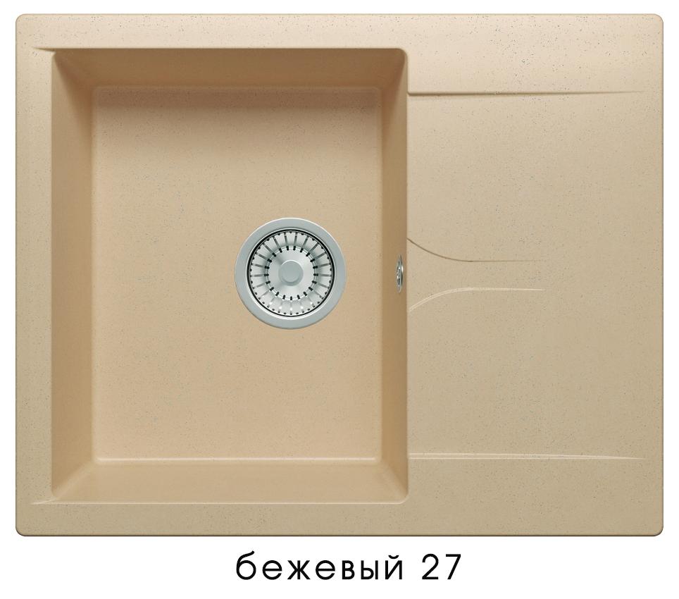Кухонная мойка POLYGRAN Gals-620 (Gals-620 № 27 бежевый)