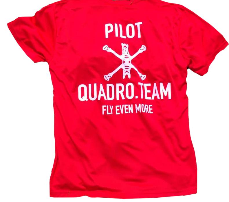 Футболка FPV пилота QUADRO.TEAM