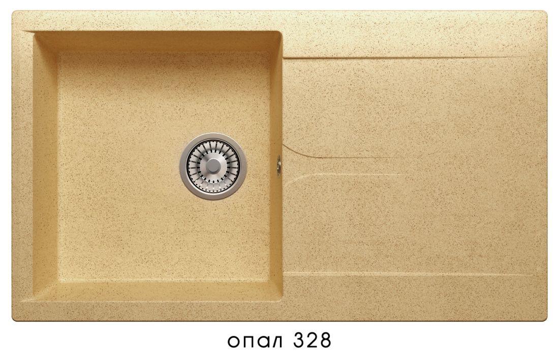 Кухонная мойка POLYGRAN Gals-860 (Gals-860  № 328  опал)
