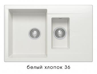Кухонная мойка POLYGRAN Brig-770 (Polygran Brig -770 белый хлопок №36)