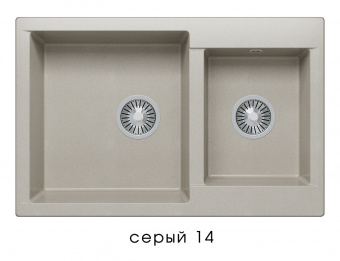 Кухонная мойка POLYGRAN Brig-772 (Polygran Brig -772 серый № 14)
