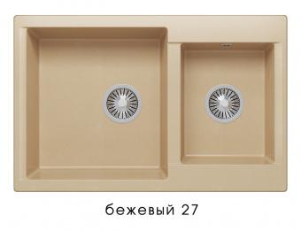 Кухонная мойка POLYGRAN Brig-772 (Polygran Brig -772 бежевый №27)