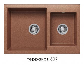 Кухонная мойка POLYGRAN Brig-772 (Polygran Brig -772 терракот №307)