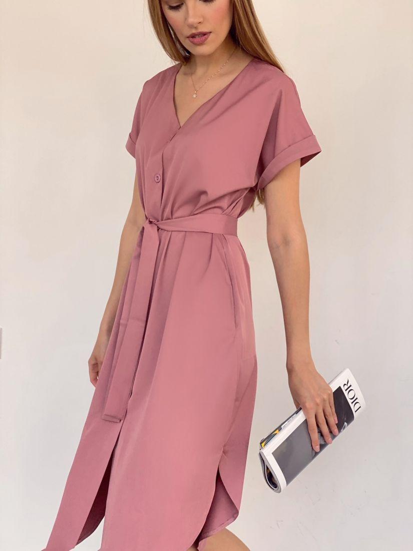 3978 Платье-рубашка в цвете mauve