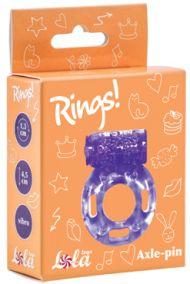 Виброкольцо эрекционное Lola Toys Rings Axle-pin фиолетовое