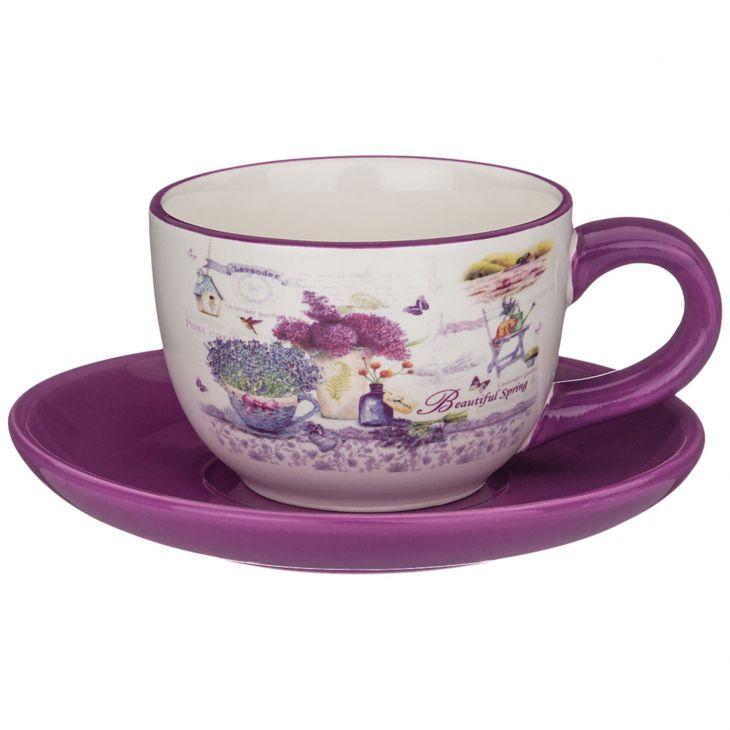 Чайная пара ЛАВАНДА 220 мл 358-1717