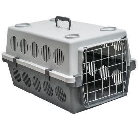 Переноска для животных пластиковая с металлической дверцей «Пегас» №1