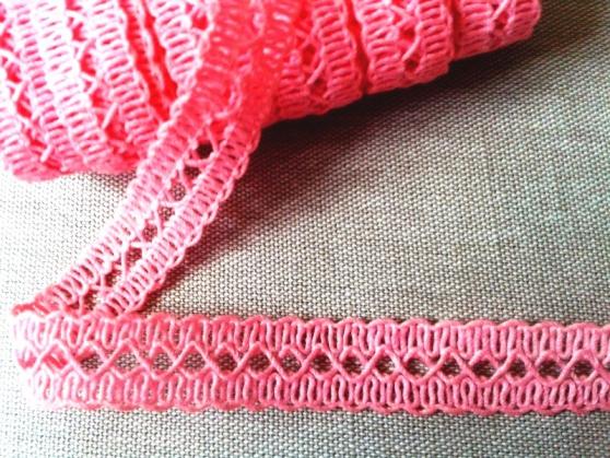 фото Кружево вязаное ширина 13 мм. Беларусь Разные цвета 60047 розовый