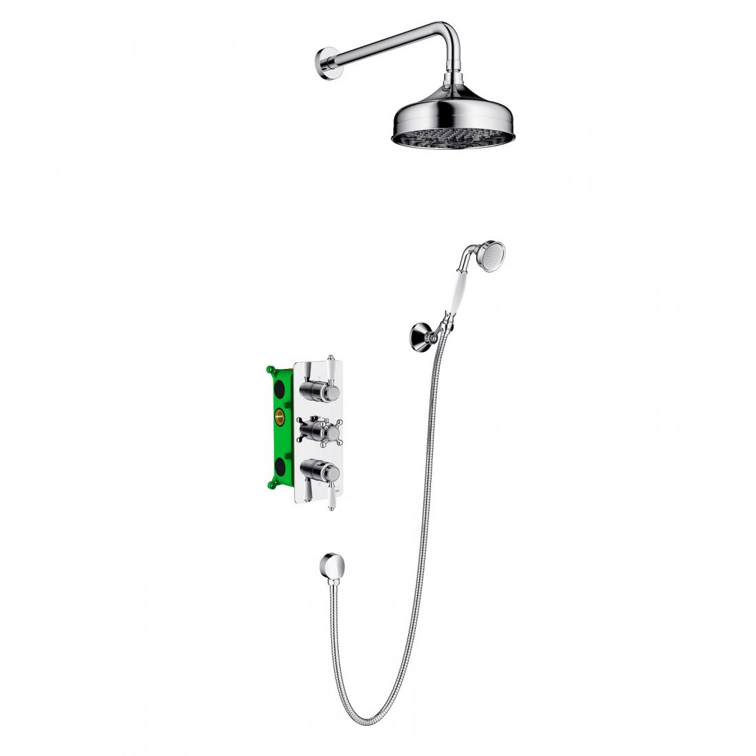 Душевая система Timo Nelson скрыт. монт., 2-х режимная, с термостатома (SX-1390/00SM chrome)