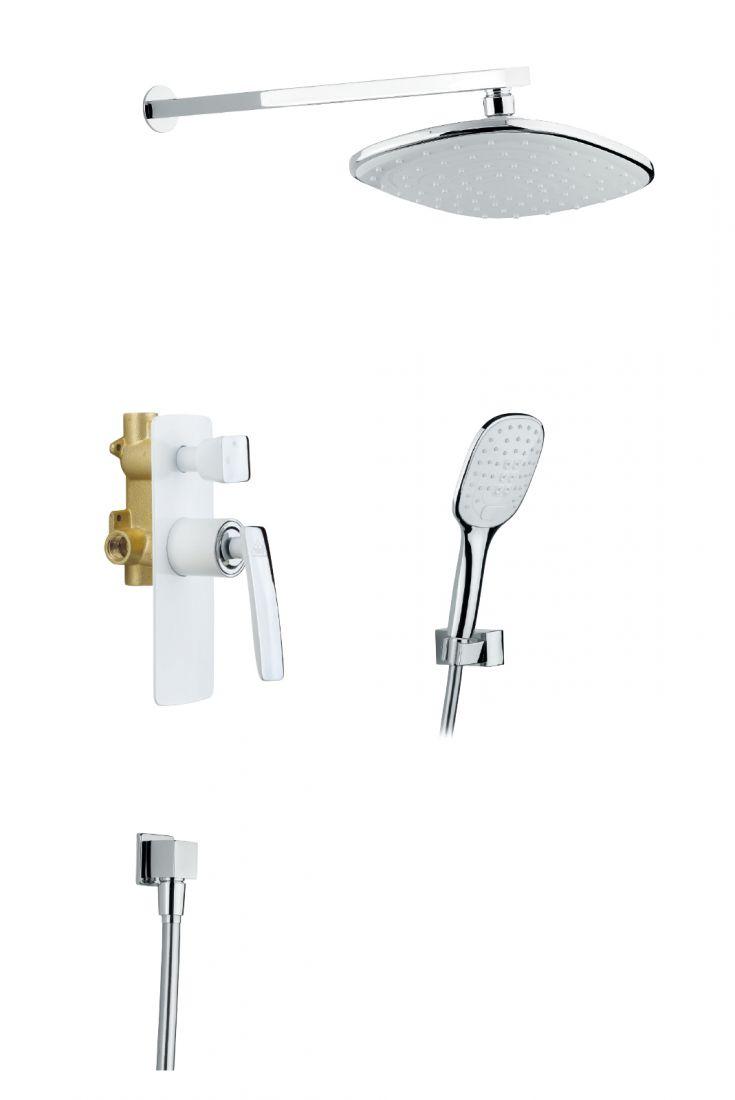 Душевая система Timo Helmi 2-х режимная (SX-4069/00-16SM chrome/white)