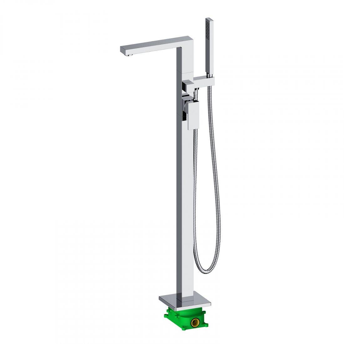 Смеситель напольный для ванны с душем Timo Selene хром (2210/00Y-CR)