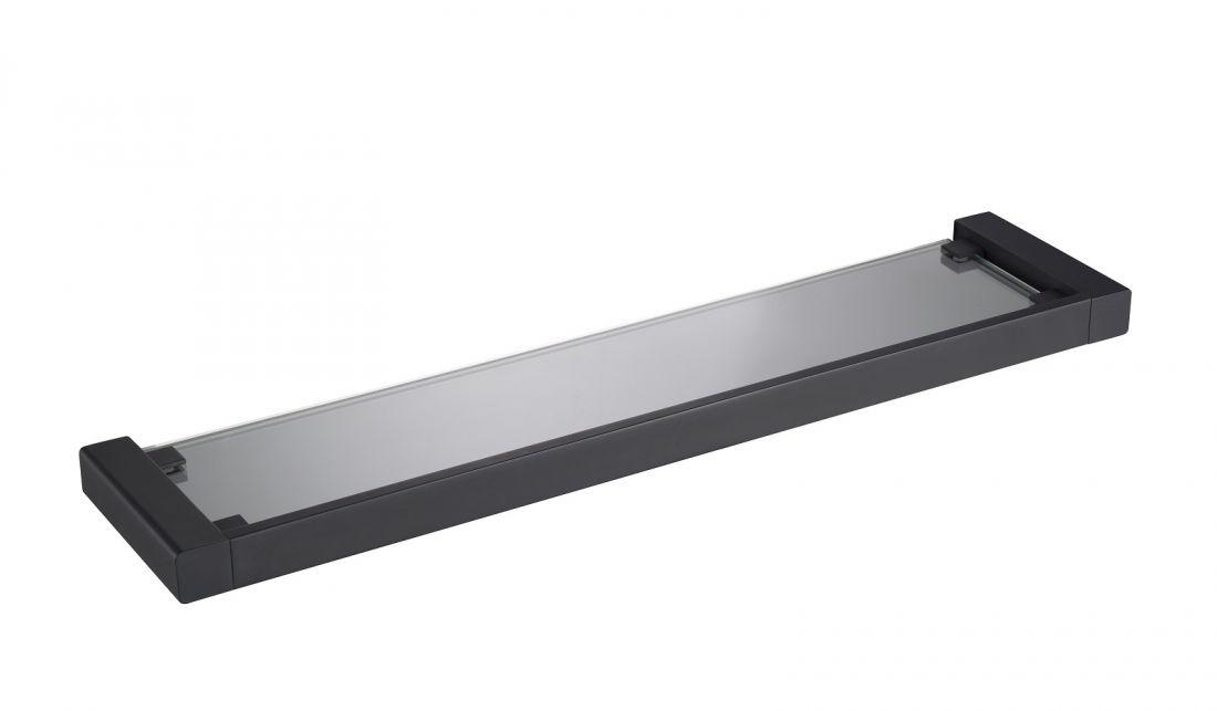 Полка в ванную стеклянная Timo Selene (14072/03) черный